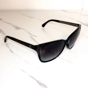 Chanel glitter logo sunglasses